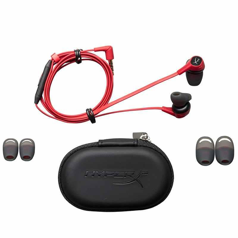 Kingston HyperX Cloud słuchawki douszne zestaw słuchawkowy do gier 3.5mm z mikrofonem wciągające dźwięk w grze douszne słuchawki do telefonu komórkowego