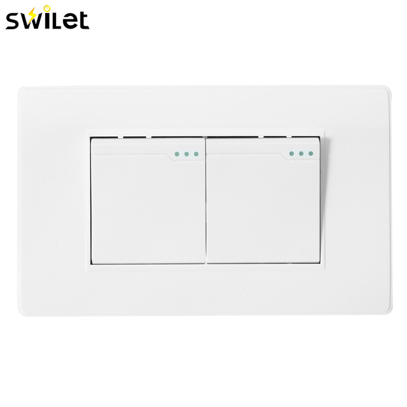 SWILET Durable 118Type Brazil Chile Standard 1/2 Gang Wall Switch Ivory White Light Switch For LED Button Switch AC 110~250V cafe brazil 2 cd