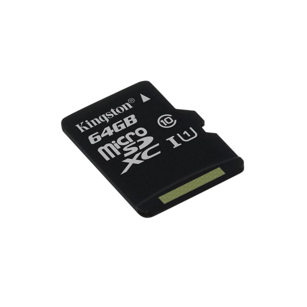 Kingston Technology Canvas Select, 64 GB, MicroSD, Class 10, UHS-I, 80 MB/s, Black
