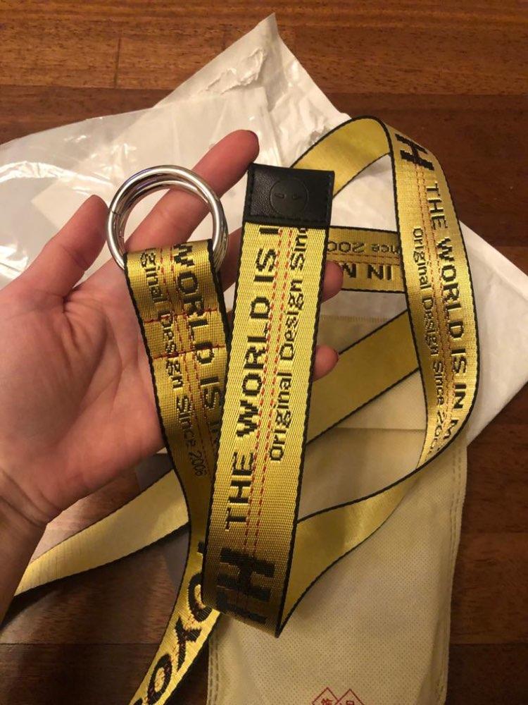Toyouth Female belt Harajuku Brand Designer Letters Yellow Long Canvas Womens Waistband Belts