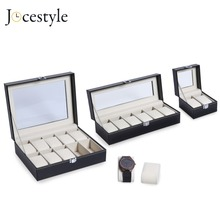 2/3/6/10/12 Grids PU Leather Watch Box Case Professional Hol