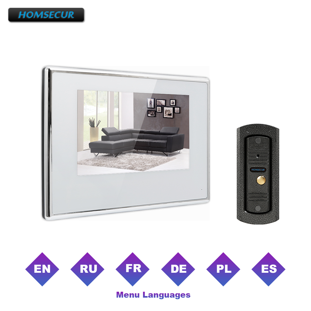 HOMSECUR 7 Wired Hands-free Video Door Entry Security Intercom  BC011-S+BM718-WHOMSECUR 7 Wired Hands-free Video Door Entry Security Intercom  BC011-S+BM718-W