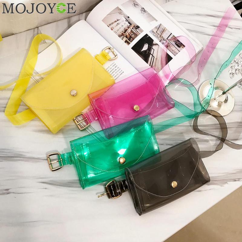New Fashion Beach Fanny Pack Waist Bag Women Messenger Cute Transparent Jelly Waterproof Crossbody Bag Chest Bag Heuptas