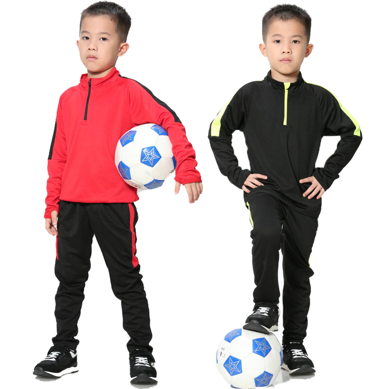 TPPO 20//21 Kids Training Suit Soccer Jersey and Shorts Children Size 4-13 Years ,Red,Jersey Number 1#