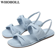 New Women Sandals Summer Shoes Stylish Solid Flock Flat Casual Footwear Open Toe Ankle Strap Ladies Sandals Breathable Design stylish women s sandals with flowers and black colour design