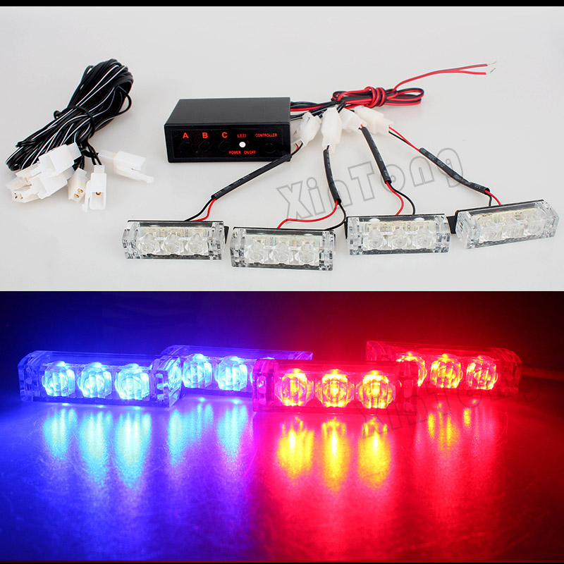 LED Strobe Flash Warning Blue/Red/White/Amber/Red Bumper Grille Driving Day Light Bar Police Firefighter Car Truck Emergency wireless control car strobe light bar 30 led police warning lights emergency strobe lights dc 12v 30inch red blue white amber