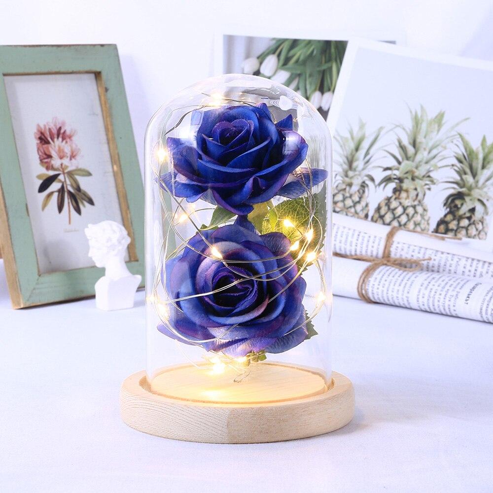 LED Schönheit Rose Beast Batterie Powered Red Blume String Licht Schreibtisch Lampe Romantische Geburtstag Urlaub Mädchen Mutter Geschenke Wohnkultur