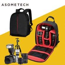 ASOMETECH DSLR Digicam Bag Backpack Digital Gear Luggage Waterproof Shockproof Breathable Put on For Nikon D3200 D3100 D5200 D7100