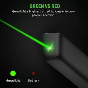 Image 3 - Knorvay N75 Draadloze Presenter met Groene Laser Licht Oplaadbare PowerPoint Clicker Presentatie Remote Laser Pointer