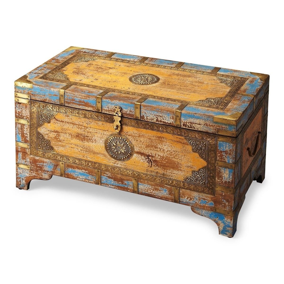 Butler Nador Painted Brass Inlay Storage Trunk серьги butler and wilson