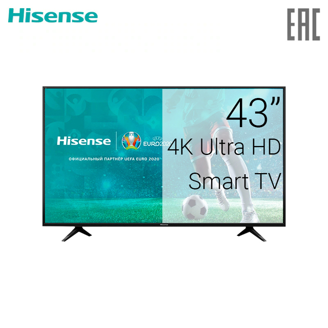 "Телевизор 43"" Hisense H43A6100 4K SmartTV"