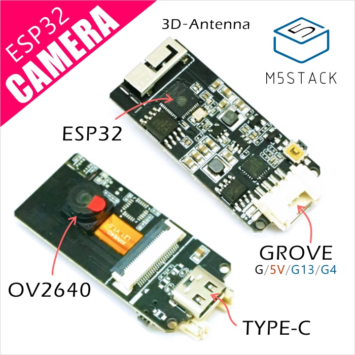 M5Stack ESP32 Camera Module Development Board OV2640 Camera Type-C Grove Port