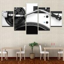 Холст HD печатных 5 панелей музыка консоль DJ инструмент Смеситель плакаты современный дом стены Художественная декоративная живопись модульная фотографии