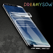ФОТО 3d soft film for samsung galaxy s8 s9 plus s6 edge s7 edge note screen protector pet (not toughened glass) dreamysow