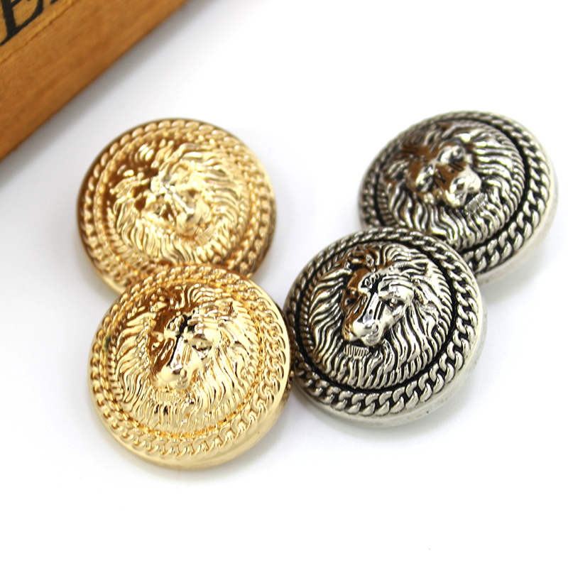 2019 Latest Design Free Shipping 10pcs/lot Golden Lion Metal Buttons High-grade Clothes Suit Buttons Male Woman Coat Sweater Buttons 15mm-25mm Pretty And Colorful Buttons Home & Garden