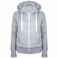 2017 Ladies Women Hoodies Sweatshirt Men Coat Top NEW 4 Colors Unisex Plain Zip Up Hooded