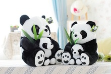 Chinese characteristics of cute and naughty plush panda doll mother child toys