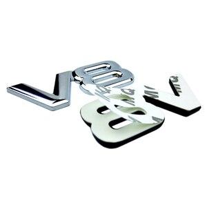 Авто металлический сплав 3D V8 логотип двигатель смещение багажник задний автомобильный значок наклейка хром V8 боковое крыло эмблема наклейка автомобиль Стайлинг