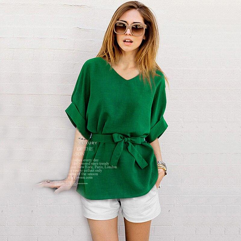 Arco Batwing V Las Camisas Tops Talla 5xl Blusa borgoña Gris Corbata Túnica Gran Lino verde Verano Del Señoras Mujer Marino Top Cuello Mujeres Camisa 2018 De Grande Floja azul xwHgTvYn7q