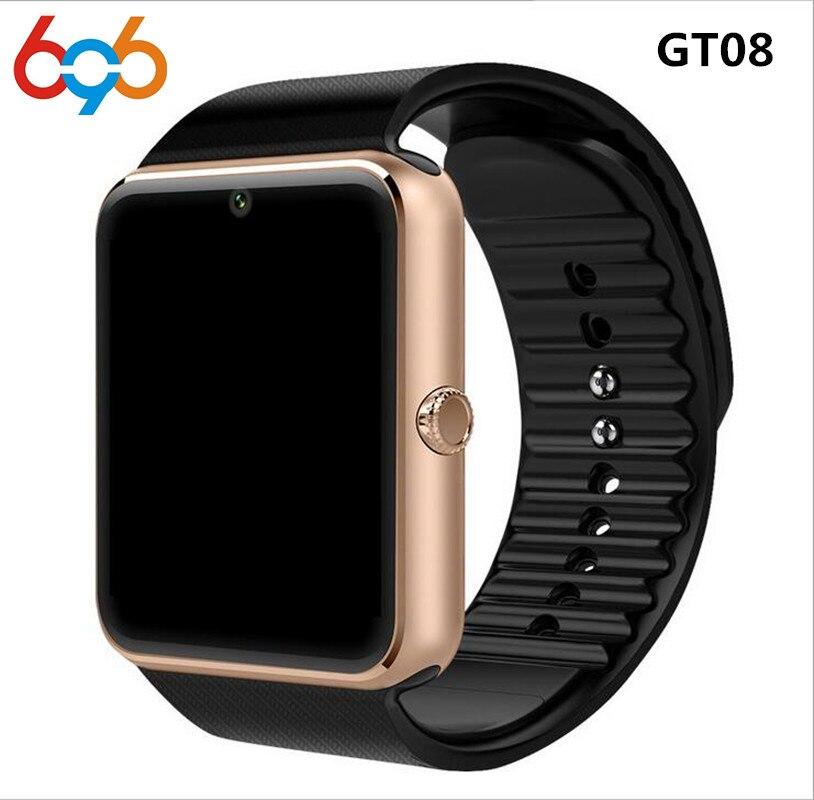 696 GT08 Orologio Intelligente Per Apple Osservare Uomini Donne Android Orologio Intelligente Elettronica Smartwatch Con La Macchina Fotografica SIM Card TF