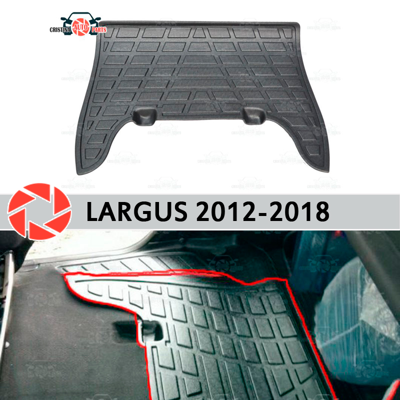Almofadas sobre os bancos traseiros para Lada Largus 2012-2018 cobre no tapete guarnição soleira acessórios de proteção do tapete estilo do carro