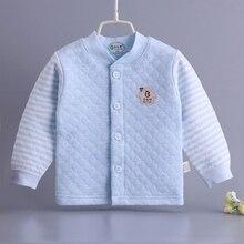 Осенне-зимняя плотная одежда для маленьких мальчиков и девочек От 0 до 2 лет свитер с длинными рукавами из хлопка для малышей теплая спортивная одежда для маленьких девочек и мальчиков
