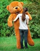 Бесплатная доставка 200 см Огромный гигантские teddy bear Мягкие игрушки животные Плюшевые игрушки Подушка Жизнь Размер малыша куклы девушки под