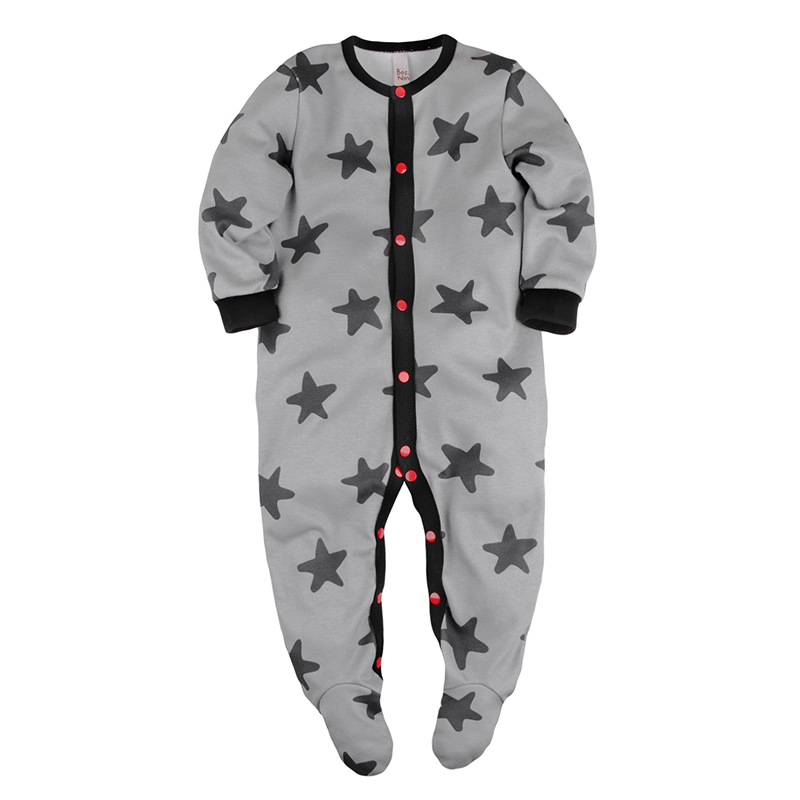Sleepsuits&Footies Bossa Nova 502B-371s Gray Stars children s sleepsuits