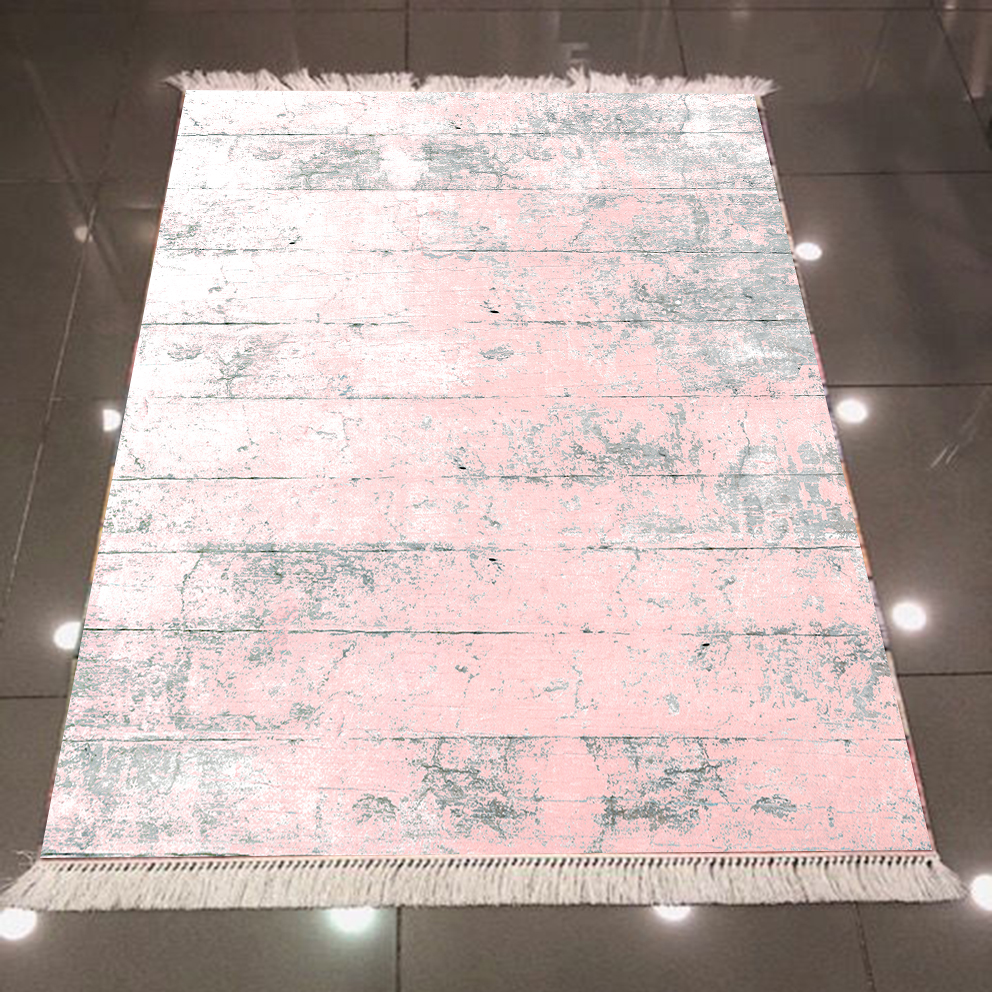 Else Pink Gray Aging Vintage Wood Floral 3d Pattern Microfiber Print Anti Slip Back Washable Decorative Kilim Area Rug Carpet