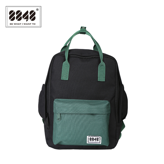8848 Brand Backpack For Women Schoolbags For College Student Waterproof Oxford Fashion Black Resistant Knapsack New 003-008-023