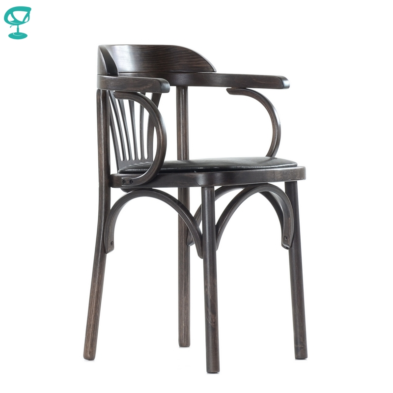 2122 Barneo Viennese Wooden Chair Soft Seat Dinner Chair Interior Stool Chair Kitchen Furniture Wenge Free Shipping In Russia