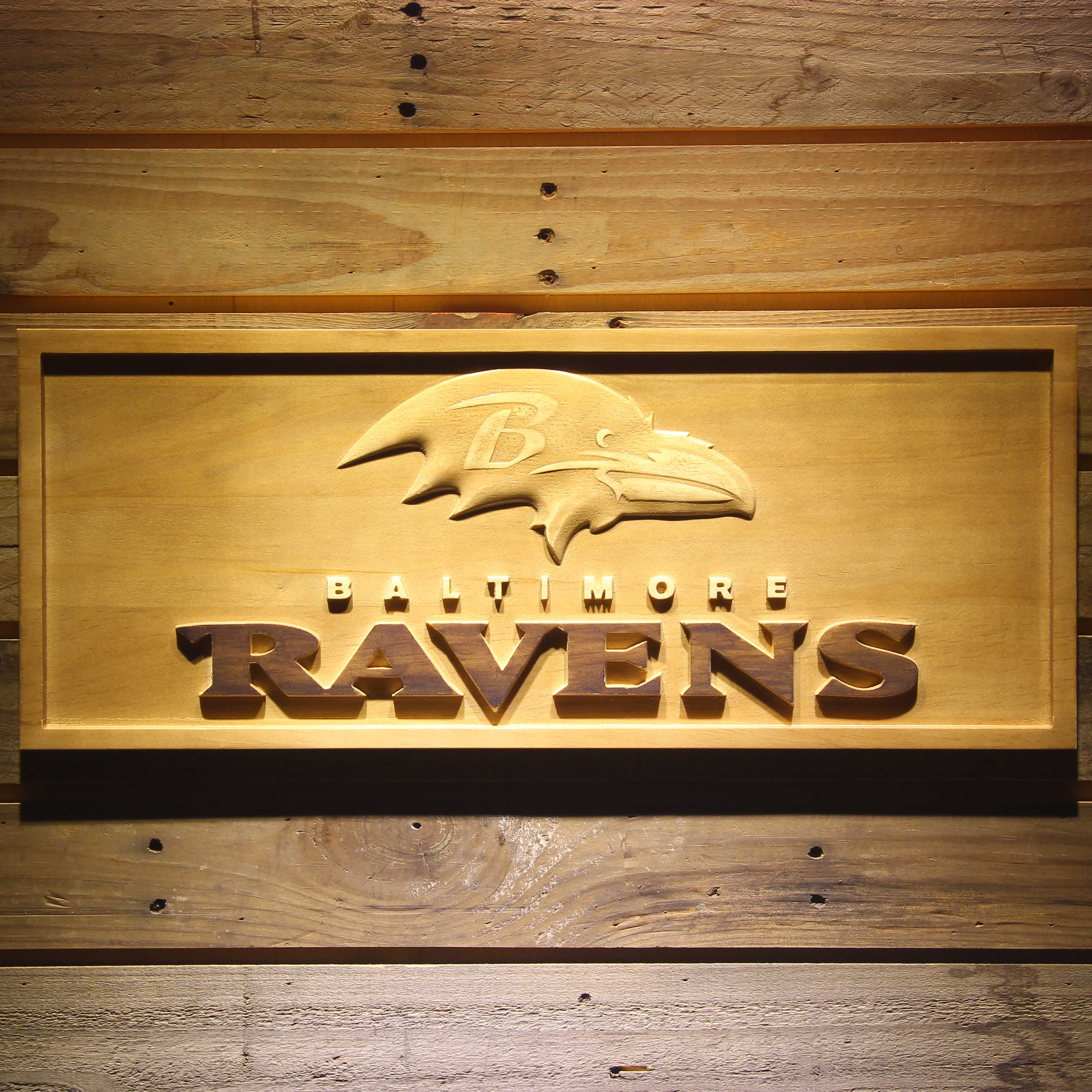 Baltimore Ravens Football 3D Wooden Sign-in Plaques & Signs from ...