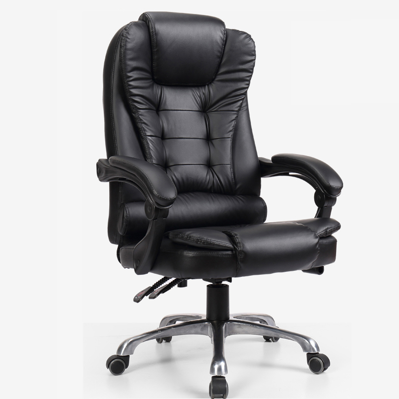 Reclining computer chair home leisure boss leather swivel chair office staff back lift study chair leather office chair home computer chair anchor chair simple design boss chair
