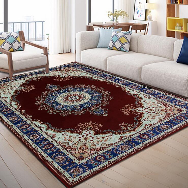 Ruang Tamu Kamar Tidur Penuh Sofa Karpet Tenun Non Slip Karpet Hotel Persia Islam Carpet2000x3000mm/Eropa Karpet Karpet  - AliExpress