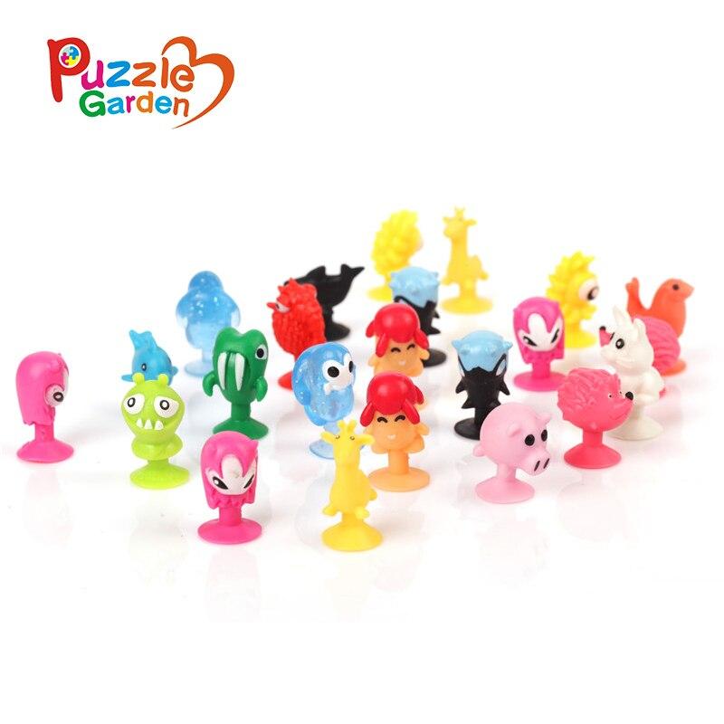 50 pcs/set Action Figures Toy cute Sucker little monster Small animals doll kids Toys Mini Capsule Children Gift