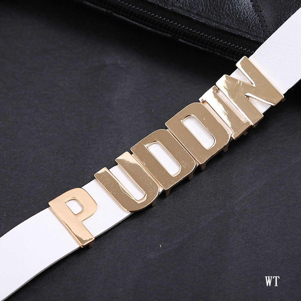 Hot Bijoux Puddin Letter Choker Collar Necklace Halloween Cosplay Leather Choker Necklace