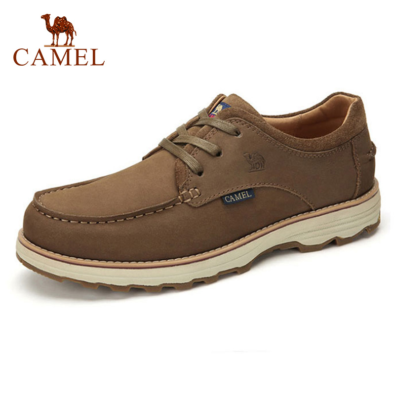 CAMEL Comfortable Casual Shoes Matte Genuine Leather Men Shoes anti man Wear resistant Tooling Footwear Fashion