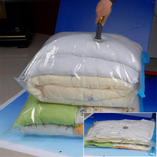 Space-saving Home Vacuum Bags Durable Transparent Clothing Quilt Storage Bag Folding Compressed Organizer Travel Seal