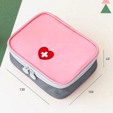 Portable Mini First Aid Emergency Medical Kit Survival Bag Empty Medicine Storage Travel Outdoors Camping Pill