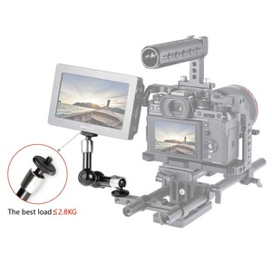 """Image 5 - SmallRig Camera 7 inch Articulating Arm EVF Mount Microphone Mount Universal 1/4"""" to 1/4"""" Aluminum Magic Arm Camera 2065"""