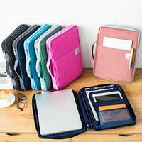 A prueba de agua Oxfored A4 bolsa de documento de la carpeta de archivos Maletín de negocios bolsa de almacenamiento para cuadernos lapiceros almohadilla ordenadores Regalo De estudiante