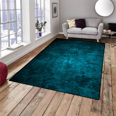 Else Green Black Vintage Retro Abstract 3d Pattern Print Non Slip Microfiber Living Room Decorative Modern Washable Area Rug Mat