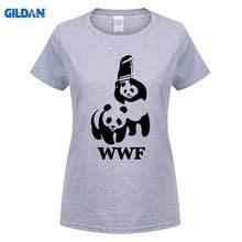 6683d73f GILDAN FUNNY WORLD WILDLIFE FOUNDATION WWF T-shirt cotton Lycra top 6272 Fashion  Brand t shirt women new DIY Style high quality