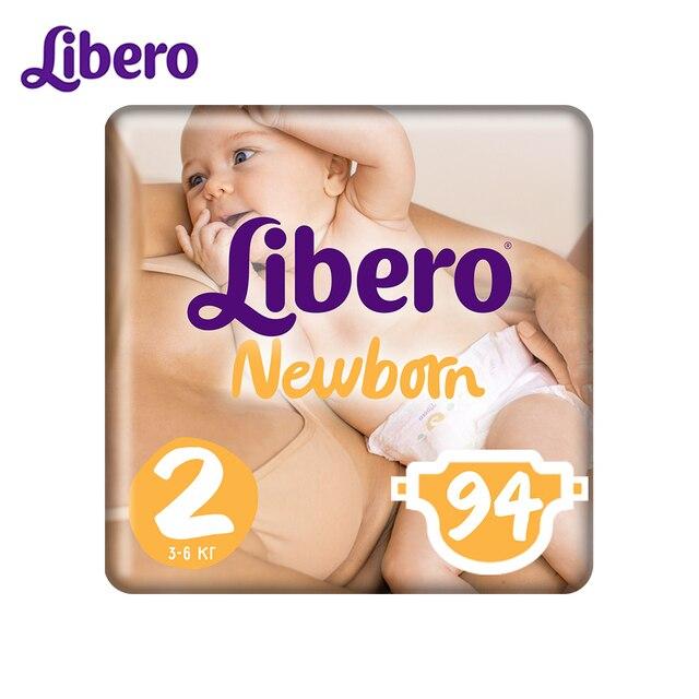 Подгузники Libero Newborn Size 2 (3-6кг), 94 шт.
