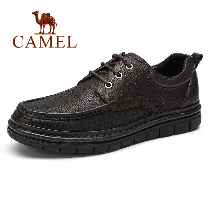 أحذية رجالي الأعمال عارضة جلد طبيعي عالية مرنة خفيفة الوزن المنخفضة كعب اللباس مكتب أحذية من الجلد الطبيعي الرجال-في أحذية رسمية من أحذية على  مجموعة 1