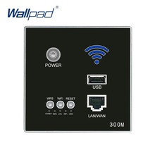 Black WIFI USB Charging WiFi Socket, USB Socket Wall Embedded Wireless AP Router Phone Wall Charger Free Shipping