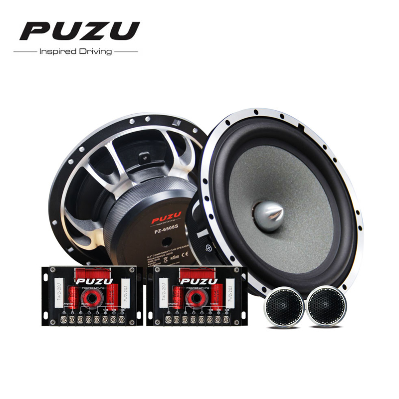 PUZU PZ 6508S Crazy Fire series 6 5 2 way Component Car Speaker Sets for All
