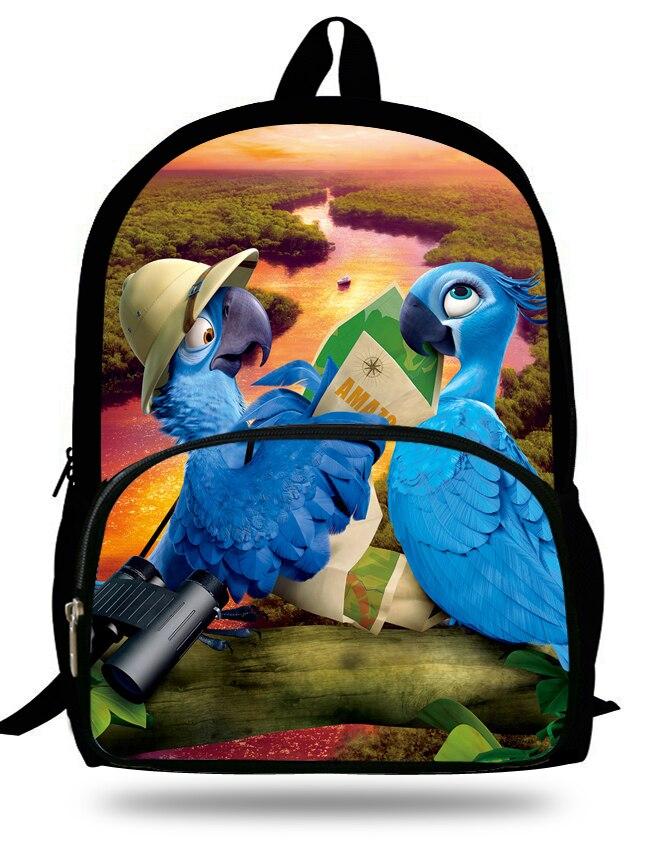 16-inch Mochila School Kids Backpack Rio Printing Cartoon Children Bags Boys Teenage Girls Backpacks