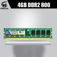 VEINEDA memory ram 4G DDR2 800/667 4gb ram memoria work desktop For Inter , amd mobo compatible ram ddr2 pc2 6400 533MHZ