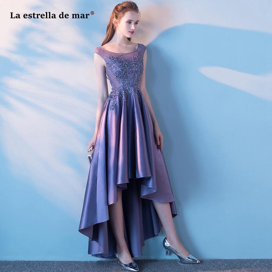 Vestido formatura2018 new top lace crystal satin cap sleeve lavender purple   prom     dresses   long elegant pretty evening   dress   stock